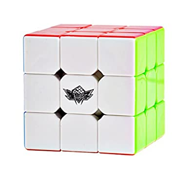 Cyclone Boys 3x3 Speed Puzzle Cube Stickerless By Johnny Enigma - Increase Your IQ, Sharpen Your Mind & Boost Your Memory - Durable ABS Construction - 56mm Size For Kids & Adults - Fun