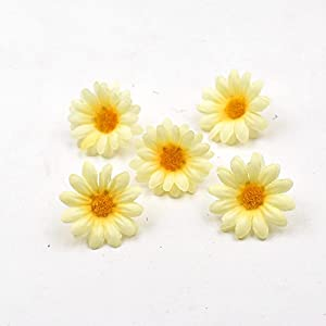 100pcs Artificial Flower Small Silk Sunflower Handmade Head Wedding Decoration DIY Wreath Gift Box Scrapbooking Craft Fake Flowe 59