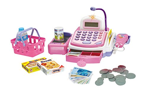 Prextex Pretend Play Electronic Toy Cash Register With Mic Speaker And Play Money Included Christmas Gift For Kids (Toy Cash Registers For Girls compare prices)