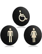 Toiletbord zwart hout toiletbord toilet deurbord dames heren