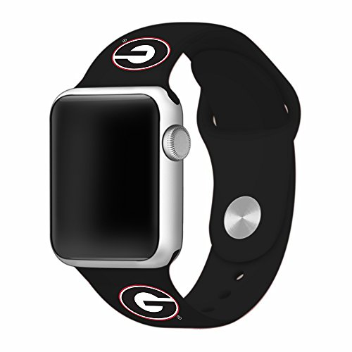 University of Georgia Bulldogs 42mm Black Sport Band for Apple Watches - BAND ONLY (42mm Black) (Watch Steel Sport Bulldogs Tech)