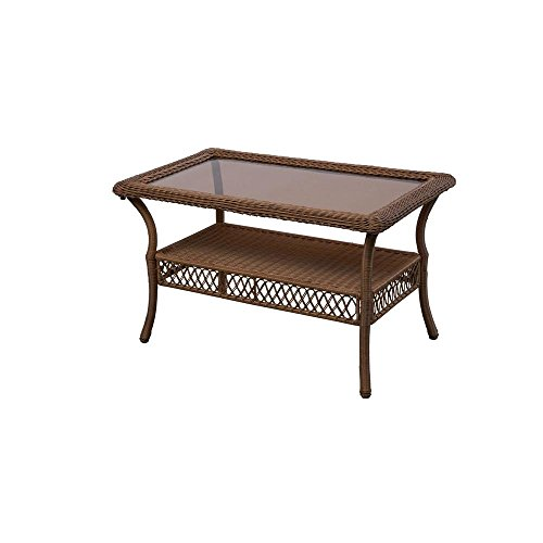 Hampton Table Bay Patio (Spring Haven Brown 66-20305 All-Weather Wicker and Rust Resistant Powder Coated Steel Frame Outdoor Patio Coffee Table)