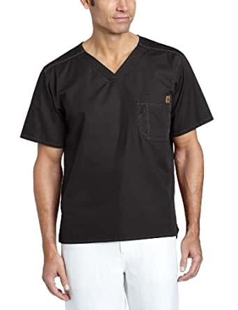 Carhartt Scrubs C15108 Men's Utility Scrub Top - X-Small Regular - Black
