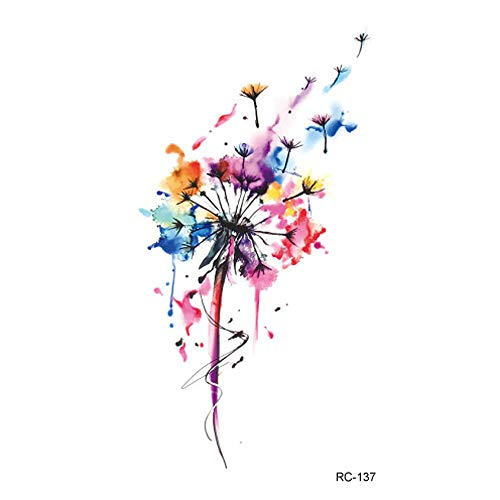 Womens Temporary Tattoos Small Size Body Art Stickers Colorful Fake Tattoo Designs as Fox Butterflies Dandelion Goldfish Individual Styles Available Premium and Fashionable Tattoos -