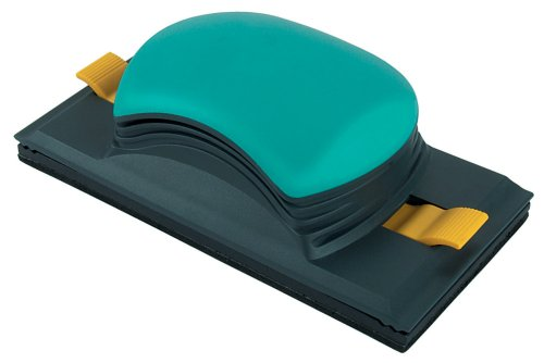 Wolfcraft 5890000 1 Universalschleifer 2K-Plus für Schleifstreifen 93 x 185 mm und Schleifpapierrolle 93 mm breit, für Flächen und rechtwinklige Ecken