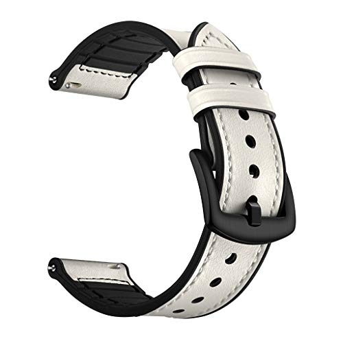 Replacement Leather Watch Band WristStrap Shmei Compatible for Huawei Watch GT Honor Magic Watch Wristband Bracelet Watchband Strap (Gray)