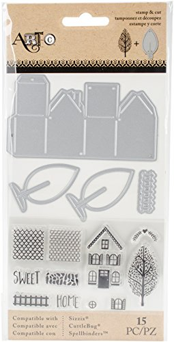 Momenta Mini Houses Art-C Stamp and Die Set by Momenta