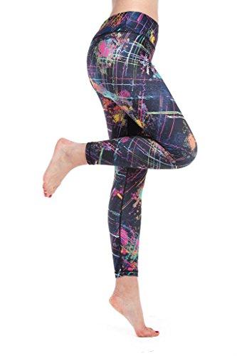Lotus Instyle Mujeres Pantalones Deportivos Athletic Gym Entrenamiento Fitness Yoga Leggings Pantalones Floral1