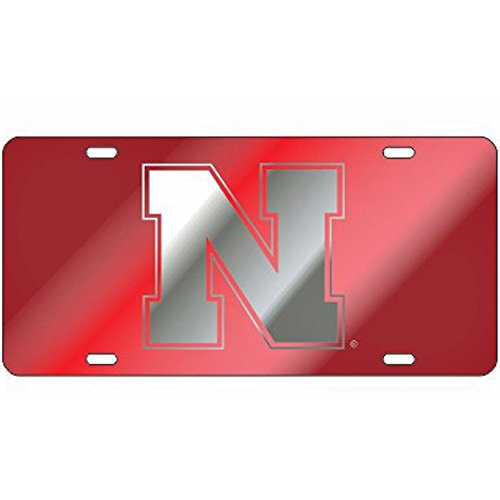- Craftique Nebraska Cornhuskers Red Laser Cut License Plate - N Logo