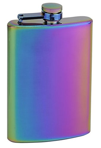 Top Shelf Flasks Rainbow Colored Unicorn Hip Flask, 8 oz 3