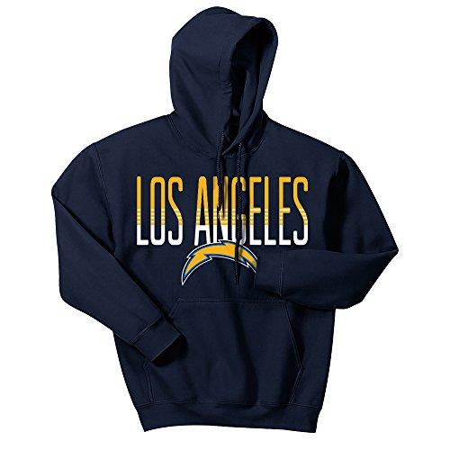 Zubaz NFL Los Angeles Chargers Men's Gradient Logo Hoodie, Medium, Navy
