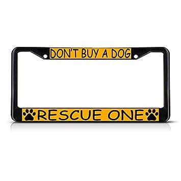 Adopt A Shelter Pet License Plate Frame Tag Holder