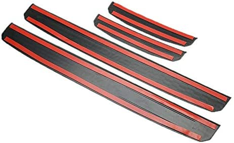 4pcs//Set Door Plate Sill Entry Guards Protector for Jeep Wrangler JL 2018 2019 4-Door Accessories Car Door Panels Car Styling