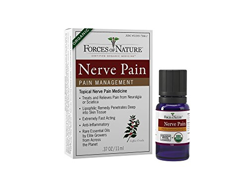 Forces of Nature -Natural, Organic Nerve Pain Relief (11ml) Non GMO, No Harmful Chemicals -Fast Acting Anti-Inflammatory Relief for Pain Associated with Sciatica, Diabetes, Shingles, Neuropathy