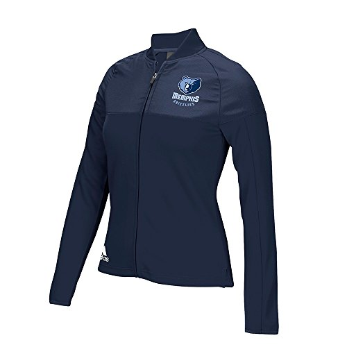 adidas Memphis Grizzlies NBA Navy Blue 2016 On-Court Long Sleeve Track Jacket For Women (L) (Adidas Court Jacket)