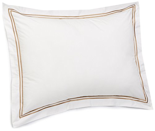 Hotel Collection Quilted Sham - Pinzon 400-Thread-Count Egyptian Cotton Sateen Hotel Stitch Sham - Standard, Taupe