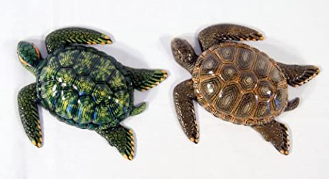Handpainted Assorted Sea Turtle Wall Mount Decor Plaque 6