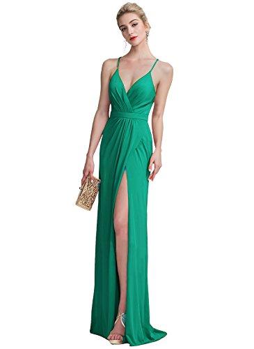Cross Back Formal Dress - 5