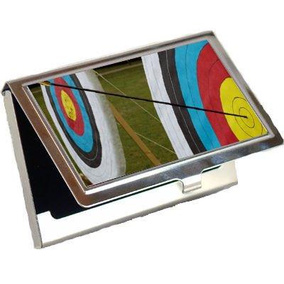 Amazon archery target business card holder office products archery target business card holder colourmoves
