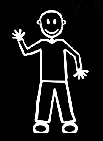 My Stick Figure Family Familie Autoaufkleber Aufkleber Sticker Decal Mit Vater Winken M13 Auto