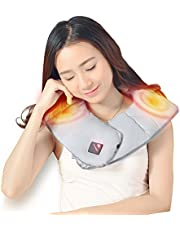 Beautprincess Neck & Shoulder Heating Pad Upper Back Wrap Therapy Pain Relief USB Portable Far Infrared, Battery Not Included