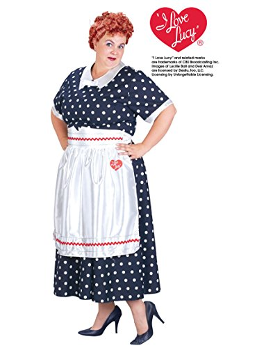 Adult I Love Lucy Polka Dot Dress Costume, Ladies Plus (Dress Sizes
