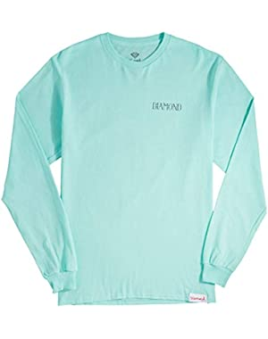 Diamond Supply Co. Split Long Sleeve T-Shirt - Diamond Blue