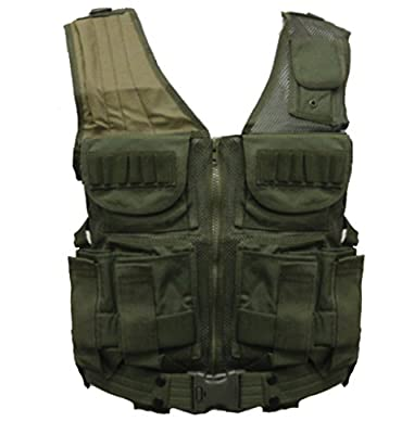 Ultimate Arms Gear Tactical Scenario OD Olive Drab Green Paintball Airsoft Battle Gear Tank-Armor Pod Vest