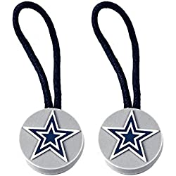 Dallas Cowboys Zipper Pull Charm Tag Set Luggage Pet Id NFL