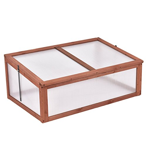 Garden Portable Wooden Raised Plants Full Green House Cold Frame Bed Protection Outdoors for mini by Heaven Tvcz (Image #7)