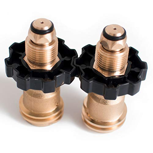 Tircuger Universal Propane Tank Adapters for POL to QCC1 with Wrench to Hand Tighten (2 Pack)