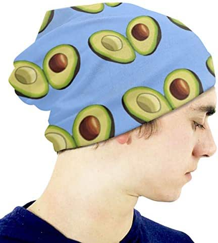 Boys' Novelty Hat Avocado Heart Beanie Girl Warm Skull Knit Hat Unisex Slouchy Soft Kid Cap Black