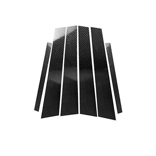 Carbon Fiber Door Window B+C Pillar Post Panel Frame Decal Cover Trim for BMW 3 Series 5th E90 E91 E92 E93 315 318 320 323 325 328 2005-2013 E901 ()