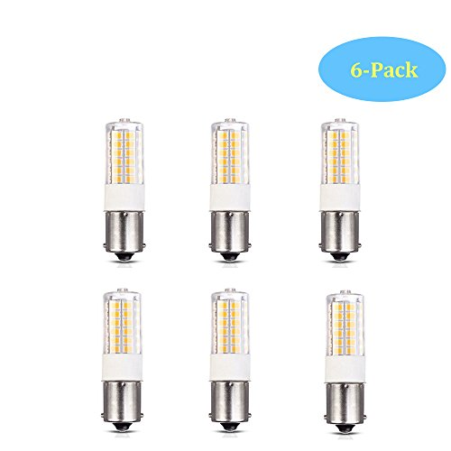 Low Voltage 3Watt BA15S S8 SC Bayonet Single Contact Base 1156 1141 LED Light Bulb 2700K-3000K for Outdoor Landscape Lighting Path Lighting Deck Lighting(6-Pack,Warm Color) (Contact Bayonet Base)