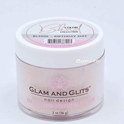 Glam And Glits Acrylic Powder Color Blend Collection BL3006 Birthday Suit 2 -