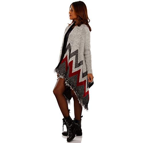 YC Fashion & Style Damen Cardigan Asymmetrisch Strickjacke