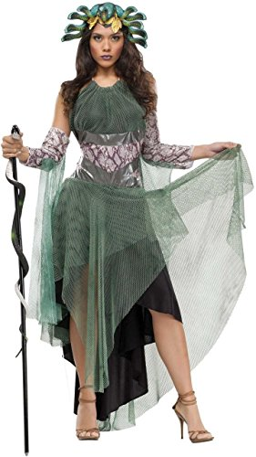 [Medusa Costume - Medium/Large - Dress Size 10-14] (Medusa Headpiece Halloween Costume)