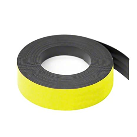 first4magnets F4MF25W-1-25mm de ancho x 0, 76 mm de espesor de cinta magnté ica grillado - blanco 76 mm de espesor de cinta magntéica grillado - blanco