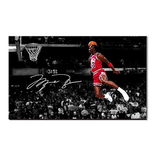 - Karen Max Michael Jordan Autographed Inscribed Wings Air Jordan Decor Team Sports Poster Oil Painting Canvas Prints Pictures Artwork