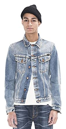 ba6cb00f85 Amazon.com  Nudie Jeans Men s Billy Shimmering Indigo Denim Jacket ...