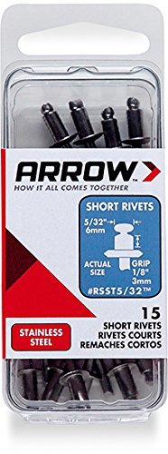 Arrow Fastener RSST5/32 Short Steel 5/32-Inch Rivets, 15-Pack ()