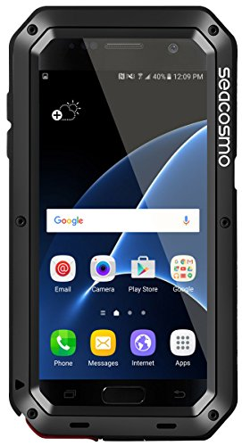 seacosmo Galaxy S7 Case, Shockproof Dustproof Rainproof Military Grade 360  Full Body Protective Case with Built-in Screen Protector Heavy Duty Rugged