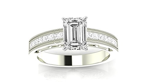 0.88 Ct Emerald Cut Diamond - 5