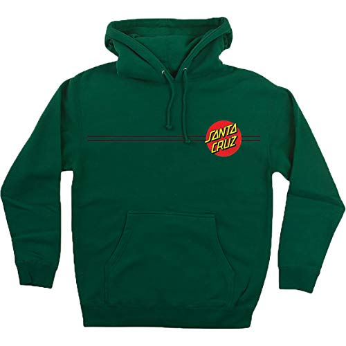 Santa Cruz Men's Classic Dot Heavyweight Hoody,X-Large,Dark Green