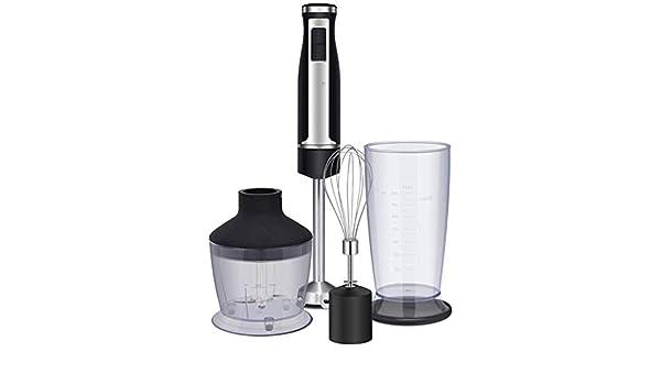 DX Control Inteligente de Velocidad LED Juego de licuadora de inmersión Manual Incluye Picador de Alimentos/batidor de Huevos/Vaso sin BPA, procesador de Alimentos, licuadora/batidora Man: Amazon.es