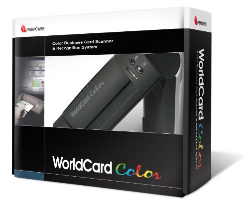 Penpower WorldCardColor Color Business Card Scanner (Best Business Card Scanners)