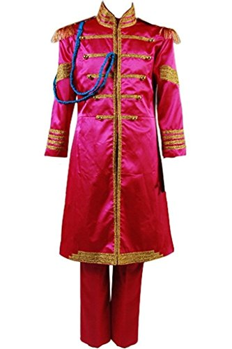 The Beatles Costume Sgt. Pepper's Lonely Hearts Club Band Cosplay Outfit Suit Jacket Blue/Green/Orange/Red - Blue Sgt Pepper Costume