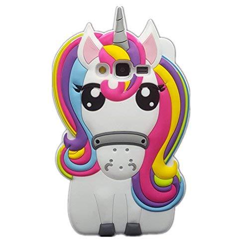 Rainbow Unicorn Samsung J3 J3 2016 Case,Awin 3D Cute Cartoon Rainbow Unicorn Horse Animal Soft Silicone Rubber Case For Samsung Galaxy J3/J3V/J36V/J3(2016) /Express Prime /Amp Prime(Rainbow Unicorn)