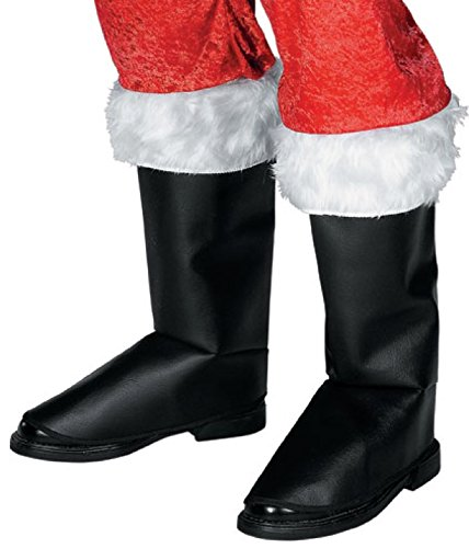 Rubie's Men's Deluxe Santa Boot Tops, Black, One Size - Santa Boots