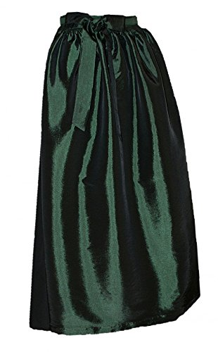 Gr.34-50 S M L XL Dirndl Schürze Dirndlschürze Trachten Mode grün pink rot rosa, Größe:XL = 46 48 50;Farbe:tannengrün